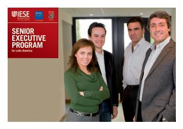 the senior executive program for latin america - IESE Business School