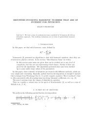 IDENTITIES INVOLVING HARMONIC NUMBERS THAT ARE OF ...