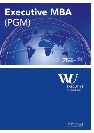 Executive MBA (PGM) - WU Executive Academy