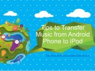 Transfer Music from Android Phone to iPod