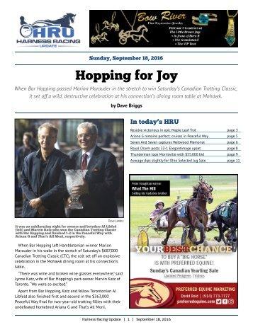 Hopping for Joy