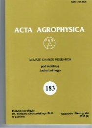 get PDF - Acta Agrophysica