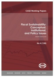Fiscal Sustainability Conceptual Institutional and Policy Issues