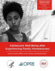 Adolescent Well-Being After Experiencing Family Homelessness