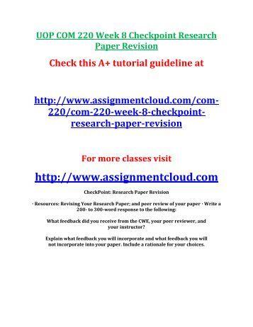COM     Week   Annotated Bibliography   CourseMatt Yumpu