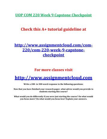 COM     Week   Checkpoint   Annotated Bibliography   Immigration