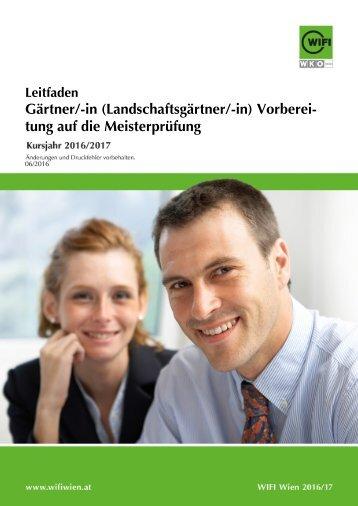 Leitfaden: Gärtner/-in (Landschaftsgärtner/-in) - Vorbereitung auf die Meisterprüfung