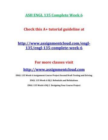 ASH ENGL 135 Complete Week 6