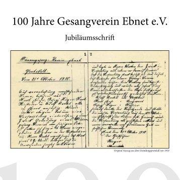 100 Jahre Gesangverein Ebnet e.V.