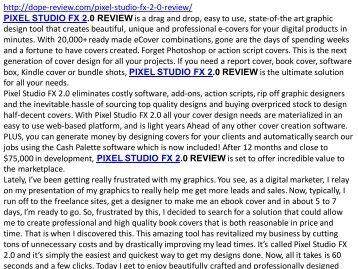 pixel studio fx 2.0 review