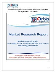 Global Laboratory Sieve Shakers Industry Professional Survey 2016 Research Report