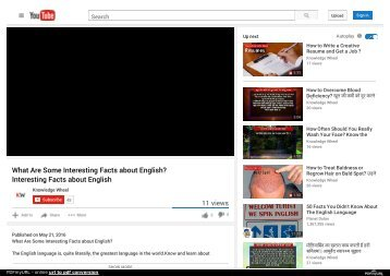 What Are Some Interesting Facts about English? Interesting Facts about English