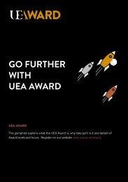 UEA Award Student Pamphlet