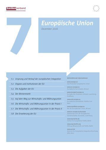 Kapitel 7 Europäische Union