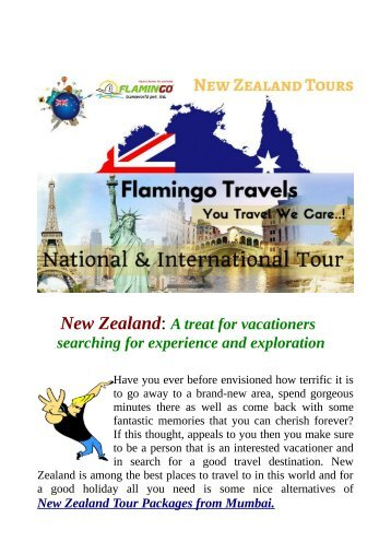 Get attractive deals on New Zealand Tours