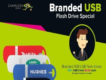 Branded USB Flash Drive - Chameleon Print Group