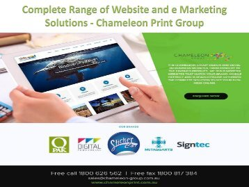 Complete Range of Website and e Marketing Solutions - Chameleon Print Group