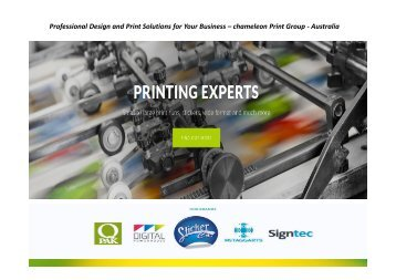 Professional Design and Print Solutions for Your Business – chameleon Print Group - Australia