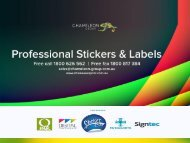 Professional Label Printing Services - Chameleon Print Group