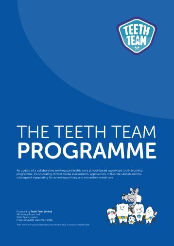 Teeth Team Annual Report 2016