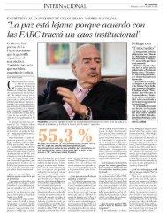 Entrevista del Diario El Mercurio del Chile al Expresidente Andrés Pastrana