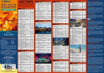 Buzzlines Tours & Day Trips 2016 & 2017 Preview