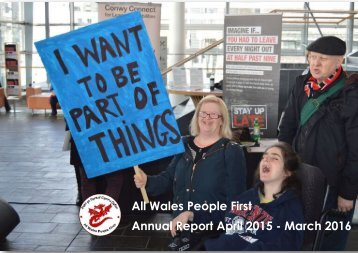 All Wales People First Annual Report April 2015 - March 2016