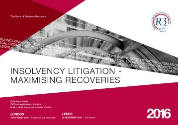 inSolVEncY litiGAtion - mAXimiSinG rEcoVEriES