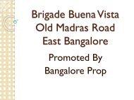 Brigade Buena Vista Bangalore