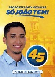 ELEICOES 2016 - JOAO DE FURAO PREFEITO - PLANO DE GOVERNO - FACEBOOK - SAIDA