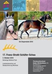 17. Franz-Strahl-Schäfer-Schau am 3. Oktober 2016