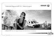 Technische Gegevens 2011-2 | Knaus campers