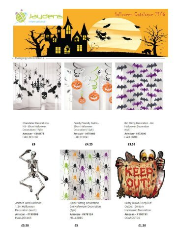 Halloween Catalogue 2016