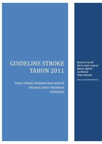 GUILDELINE STROKE PERDOSSI TAHUN 2011