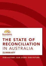 THE STATE OF RECONCILIATION IN AUSTRALIA