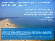 Sustainability & Transformation Plan (STP) submission Wider Devon 30 June 2016