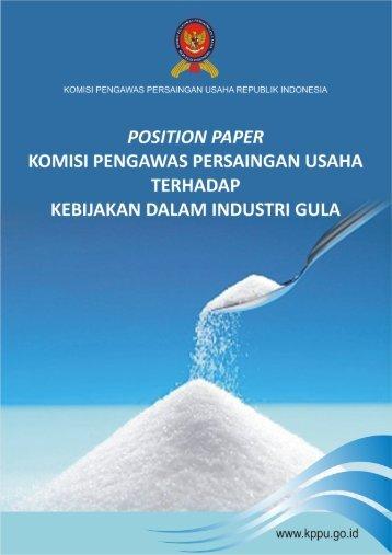 [2010] Position Paper Industri Gula