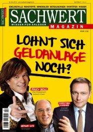 Sachwert Magazin Ausgabe 4/2016