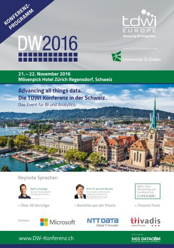Konferenzprogramm der DW2016