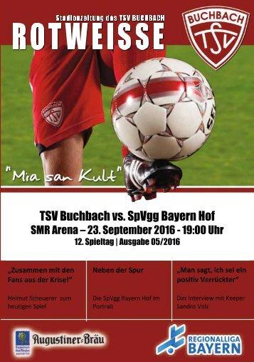 Stadionzeitung TSV Buchbach - SpVgg Bayern Hof