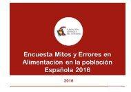 Encuesta Mitos y Errores en Alimentación en la población Española 2016
