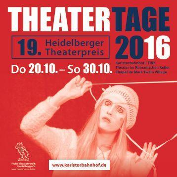 Programmheft HEIDELBERGER THEATERTAGE 2016