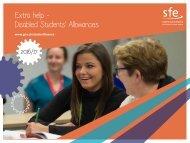 Extra help - Disabled Students' Allowances