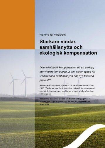 Starkare vindar samhällsnytta och ekologisk kompensation