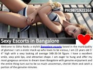Top Notch Escorts Services in Bangalore
