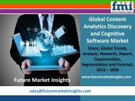 Content Analytics Discovery and Cognitive Software Market Analysis, Trends, Forecast 2016-2026