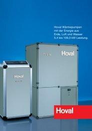 Hoval Wärmepumpen mit der Energie aus Erde, Luft und Wasser 5,4 ...