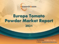 Europe Tomato Powder Market Report 2021