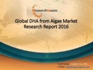 Global DHA from Algae Market Research Report 2016