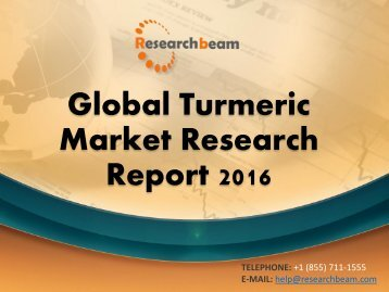 Global Turmeric Market Research Report 2016
